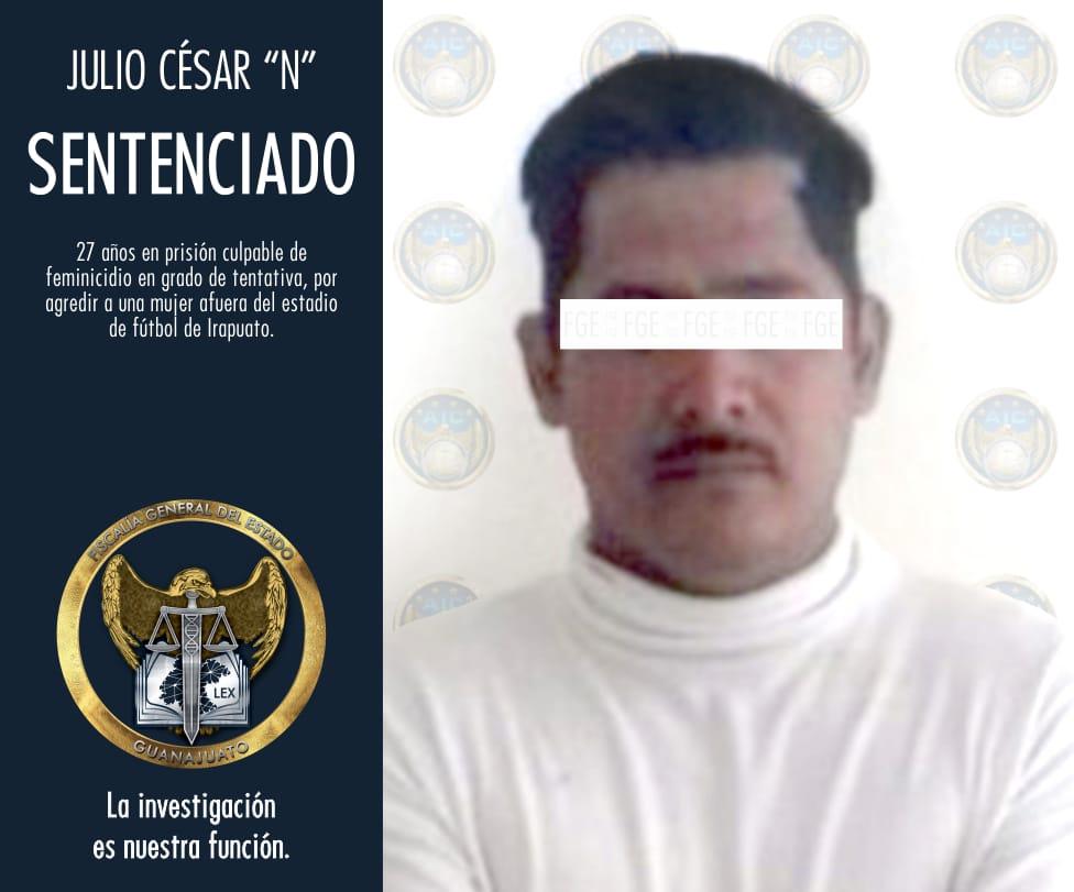 HOMBRE QUE ATACÓ A UNA MUJER AFUERA DEL ESTADIO DE FÚTBOL DE IRAPUATO, ES CONDENADO A 27 AÑOS DE PRISIÓN. 4