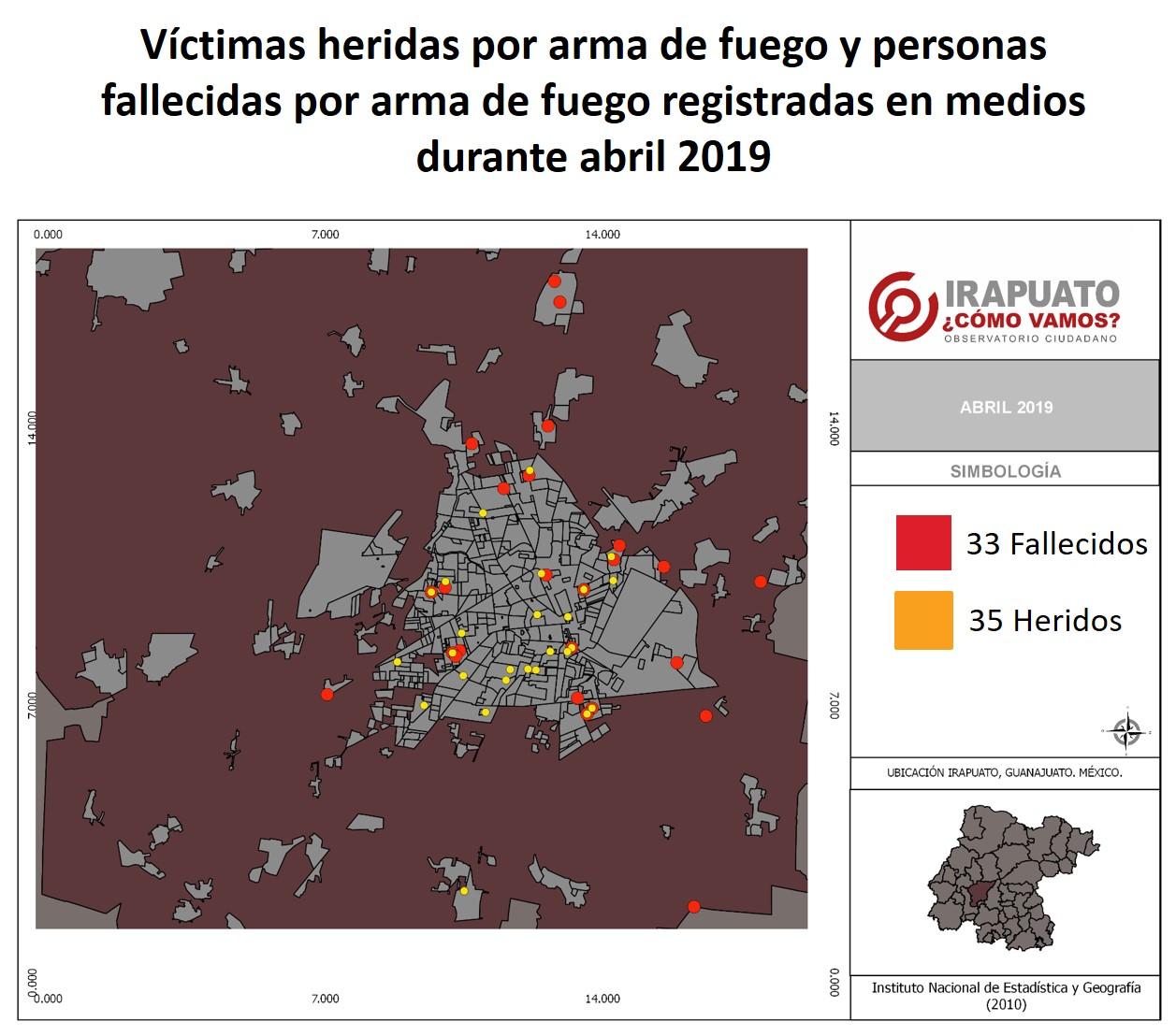 38 HOMICIDIOS EN IRAPUATO DURANTE EL MES DE ABRIL. 2