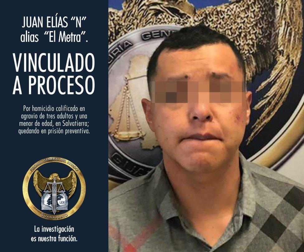 """VINCULAN A PROCESO A """"EL METRA"""", LIDER CRIMINAL EN LA ZONA DE VILLAGRÁN, CELAYA Y APASEOS. 1"""