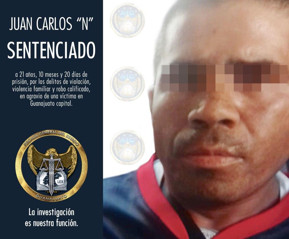 VIOLADOR EN GUANAJUATO FUE CONDENADO A MÁS DE 21 AÑOS EN PRISIÓN 2