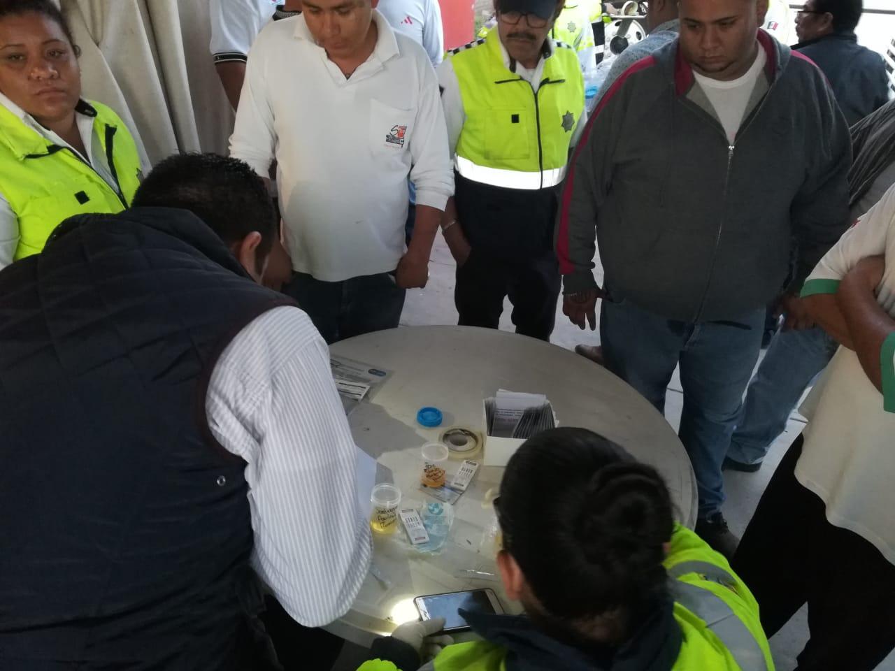 APLICAN PRUEBAS ANTIDOPING A CONDUCTORES DE URBANOS. 4