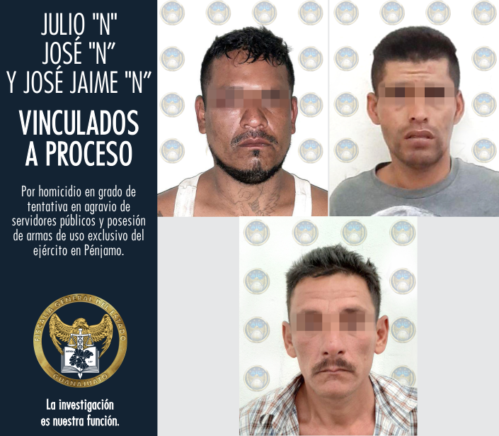 Atacantes de policías y militares en Pénjamo, quedan en prisión vinculados a proceso. 2