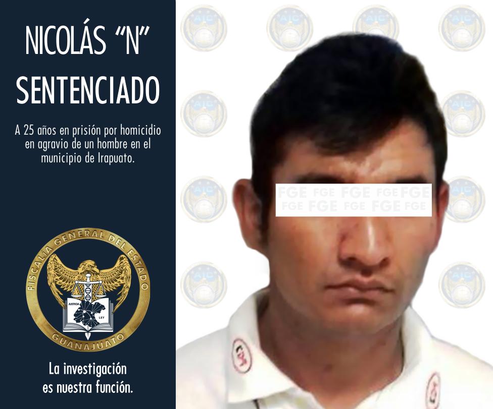 HOMICIDA DE IRAPUATO ES SENTENCIADO A 25 AÑOS DE PRISIÓN. 2