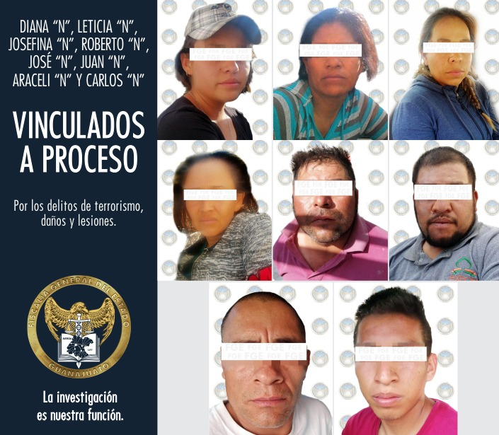 VINCULADOS A PROCESO POR TERRORISMO, OCHO PARTICIPANTES EN BLOQUEOS DE VILLAGRÁN 3