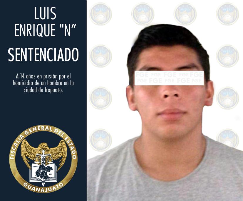 """Sentencia de 14 años de prisión para Luis Enrique """"N"""", culpable de privar de la vida a una persona durante una riña en Irapuato. 2"""