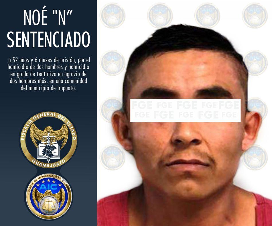 FGE logra sentencia de 52 años de prisión para homicida, que acribilló a 4 jóvenes en una festividad en Irapuato. 2