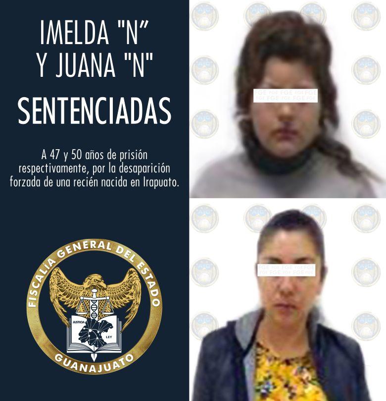 La Fiscalía del Estado obtiene sentencias de 50 y 47 años de prisión para las dos mujeres que plagiaron a una bebé en Irapuato. 4