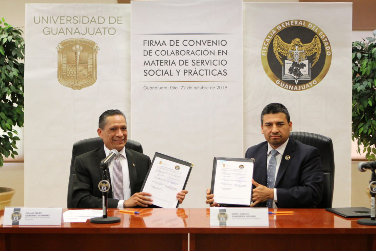 FIRMAN CONVENIO DE COLABORACIÓN FGE Y UNIVERSIDAD DE GUANAJUATO 2