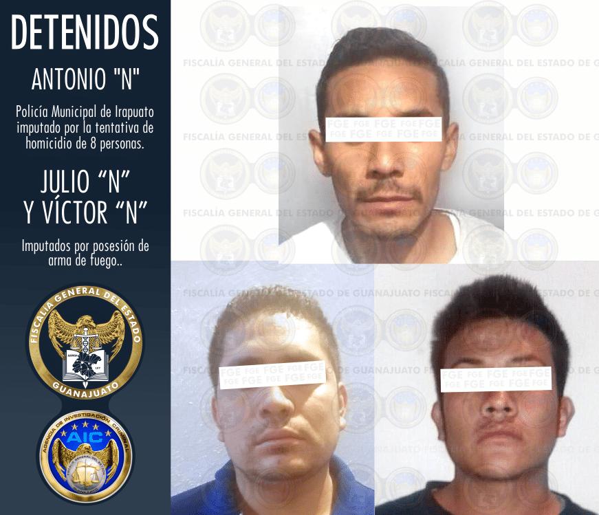 DETENIDO POLICÍA DE IRAPUATO POR TENTATIVA DE HOMICIDIO DE 8 PERSONAS. 2