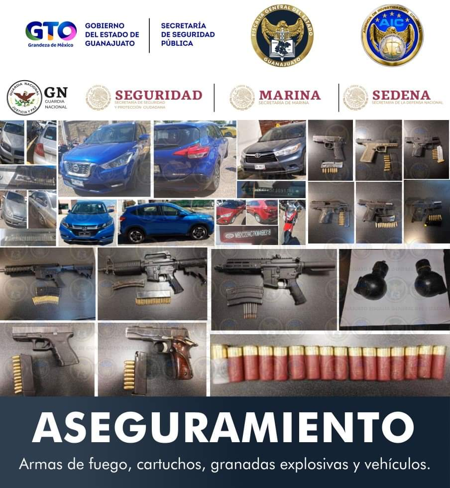DETIENEN A 24 MIEMBROS DE GRUPO CRIMINAL, DECOMISAN ARSENAL Y LIBERAN A PLAGIADO 2