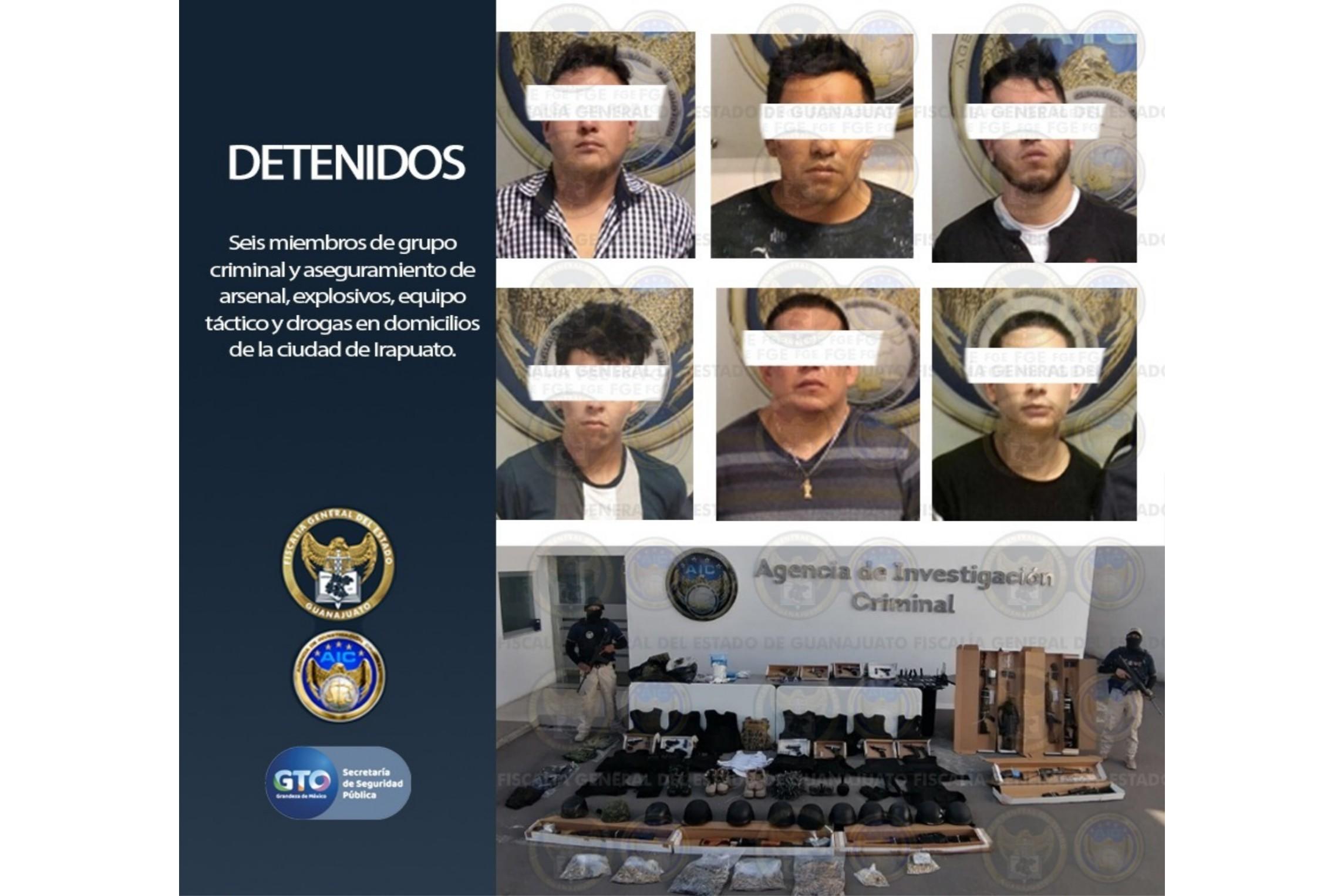 """Logran asegurar """"casas de seguridad"""" en Irapuato, deteniendo a 6 personas con arsenales, explosivos, equipos tácticos y drogas. 2"""