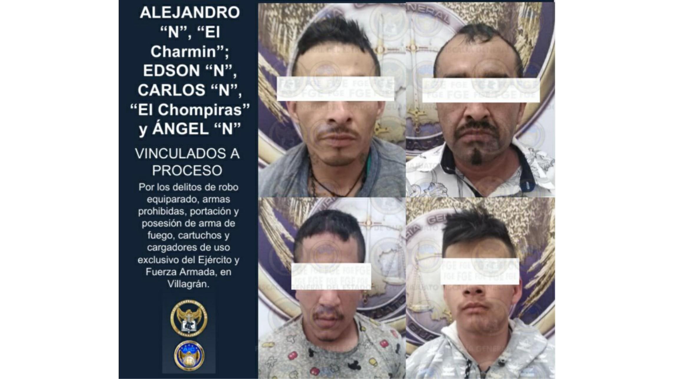 Prisión preventiva y vinculación a proceso en contra de cuatro sujetos por robo equiparado, armas prohibidas y droga. 2