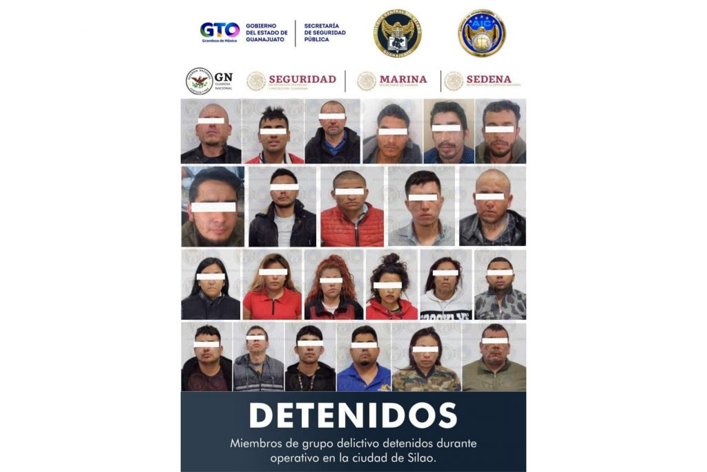 DETIENEN A 24 MIEMBROS DE GRUPO CRIMINAL, DECOMISAN ARSENAL Y LIBERAN A PLAGIADO 8