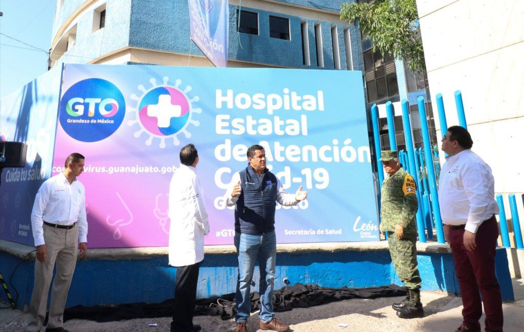 Abre en Guanajuato el primer Hospital Estatal de Atención COVID-19 en México 2
