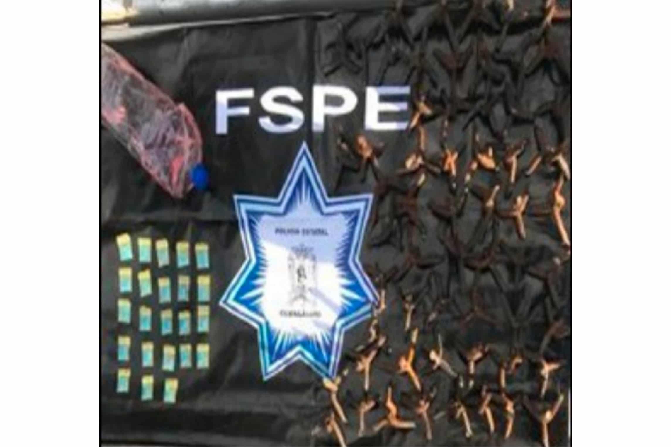 Capturan las FSPE a un grupo de hombres en acciones de bloqueo con neumáticos sobre la carretera Celaya-Juventino Rosas.  4