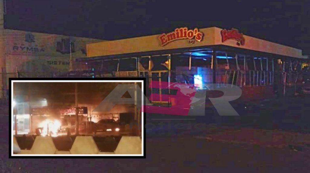 Incendian con artefactos explosivos sucursales de taquería Emilio's en Celaya 7