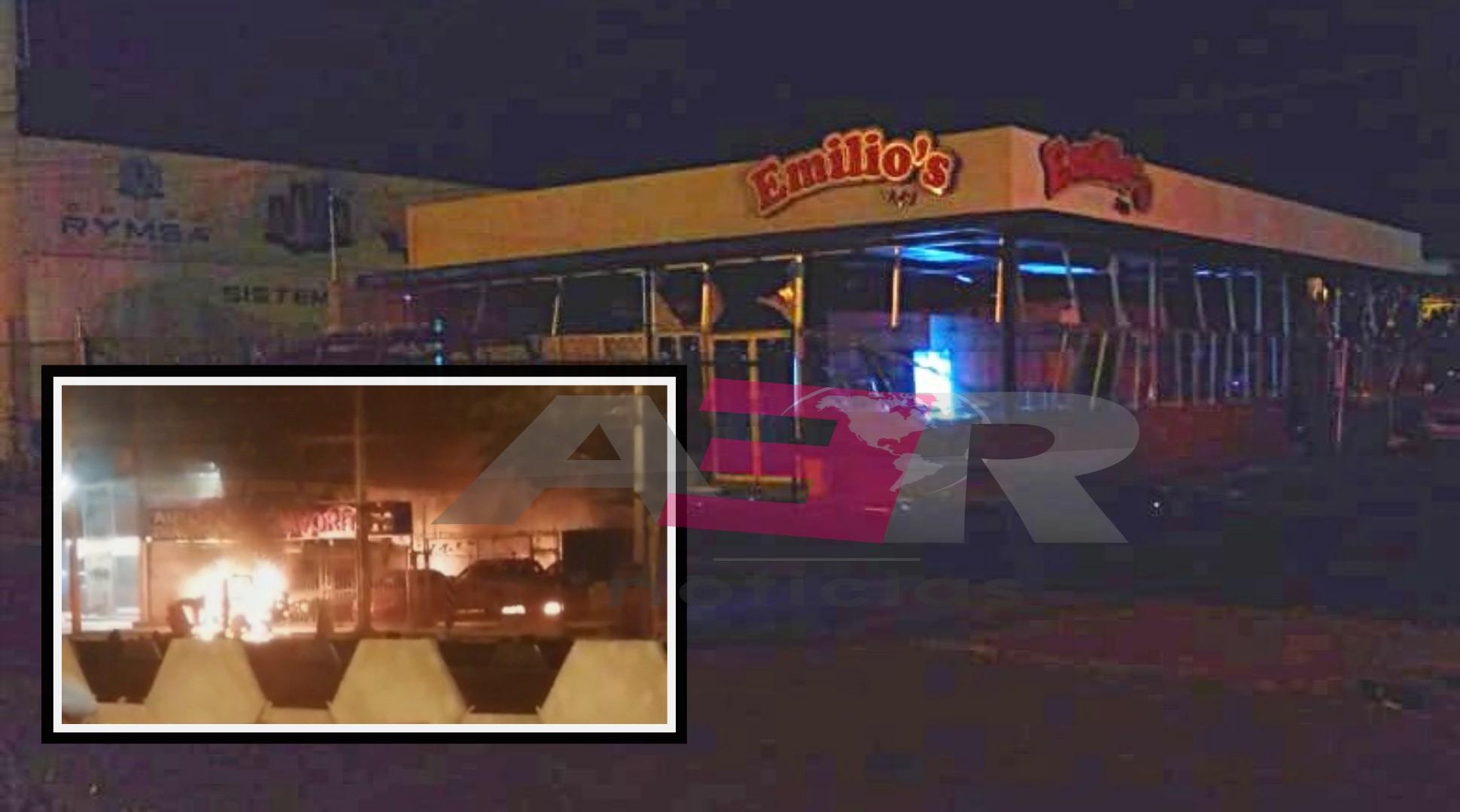 Incendian con artefactos explosivos sucursales de taquería Emilio's en Celaya 2