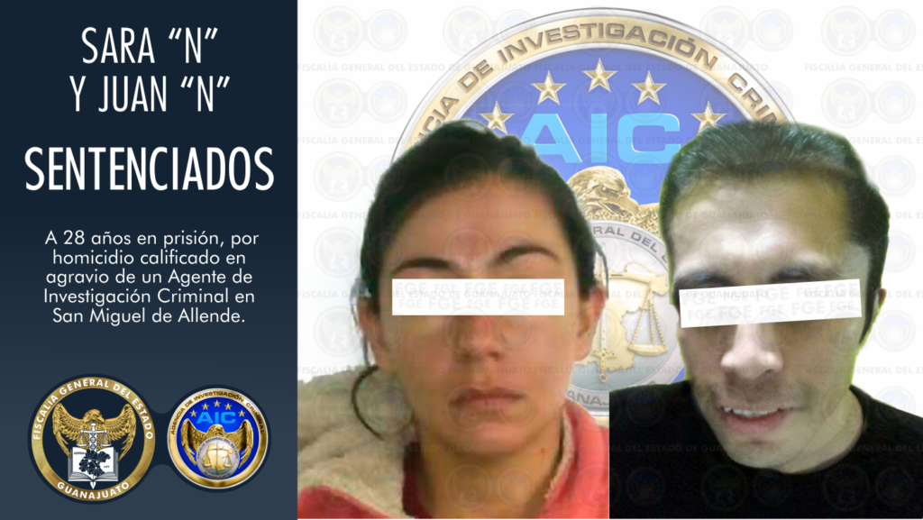 Condena de 28 años para pareja que mató a Agente de Investigación Criminal 7