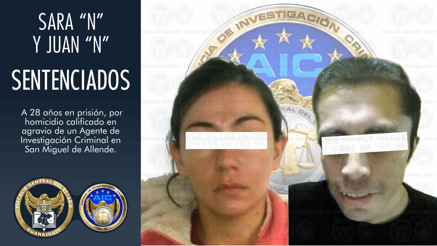 Condena de 28 años para pareja que mató a Agente de Investigación Criminal 4