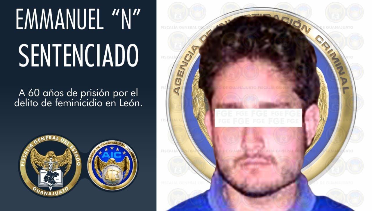 Máxima condena de prisión para feminicida de joven en León. 1