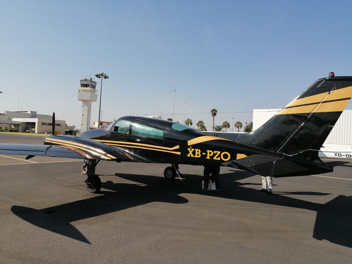 Asegura Guardia Nacional avioneta en el Aeropuerto del Bajío. 4
