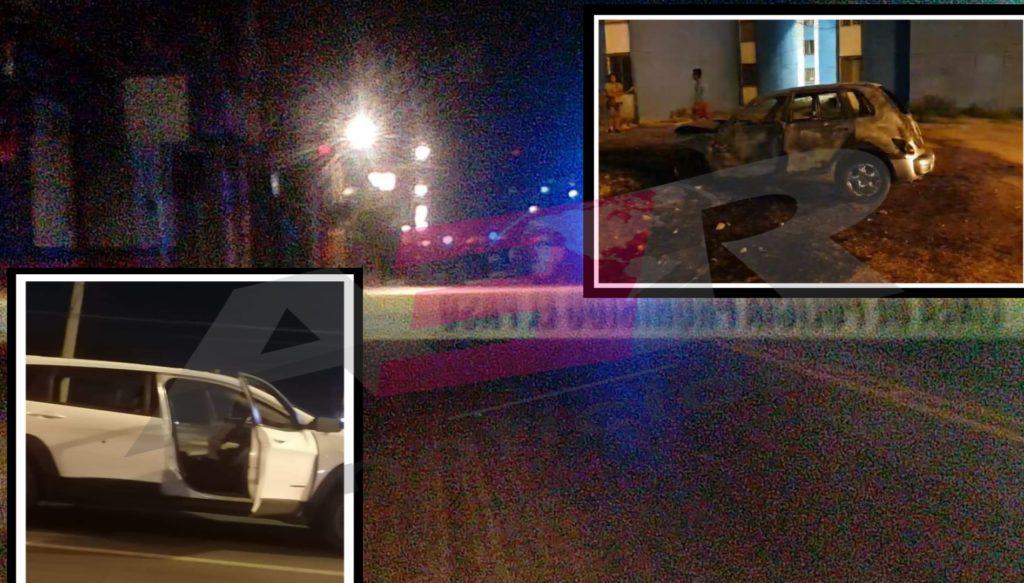 Policías lesionados y vehículos incendiados en Celaya 7