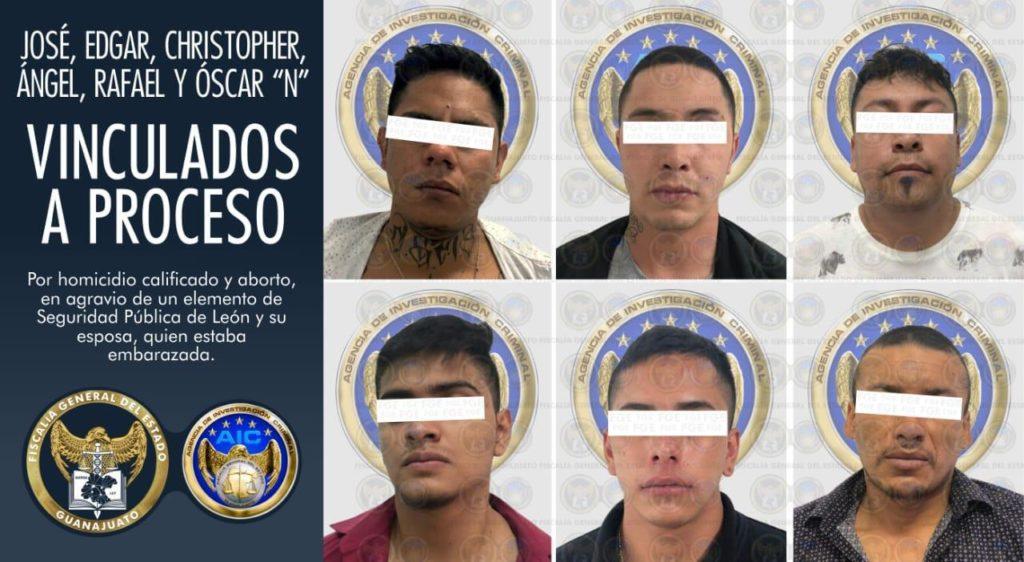 Obtiene FGE vinculación a proceso y prisión para 6 imputados en el homicidio de un policía y su esposa en León. 2