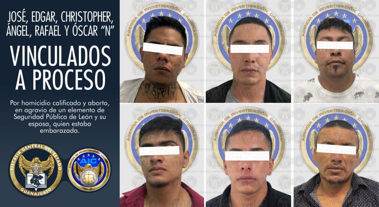 Obtiene FGE vinculación a proceso y prisión para 6 imputados en el homicidio de un policía y su esposa en León. 1