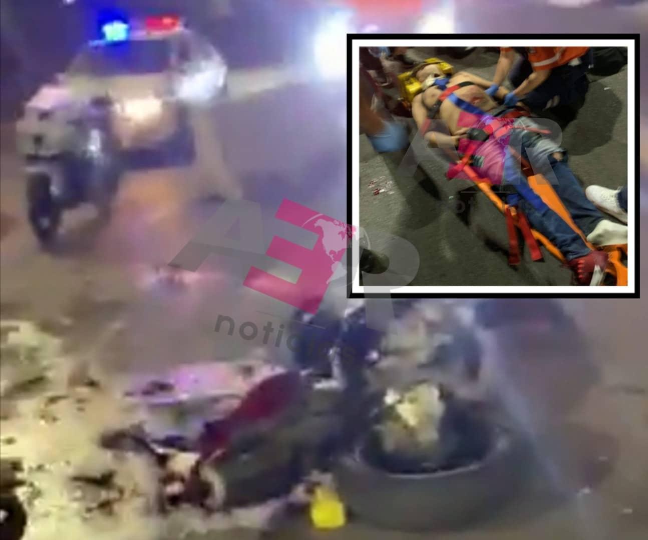 Muere motociclista tras impactarse contra muro del Puente Bicentenario. 1