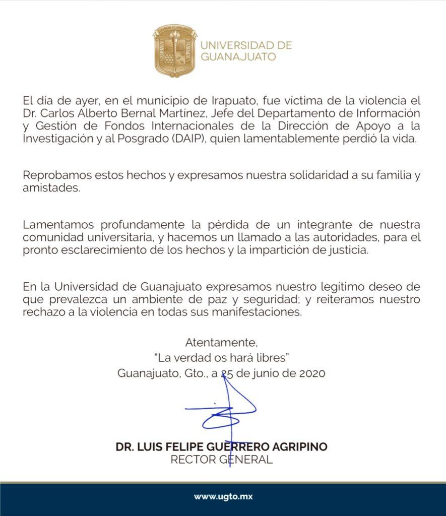 Directivo de la UG, víctima de violencia en Irapuato 5