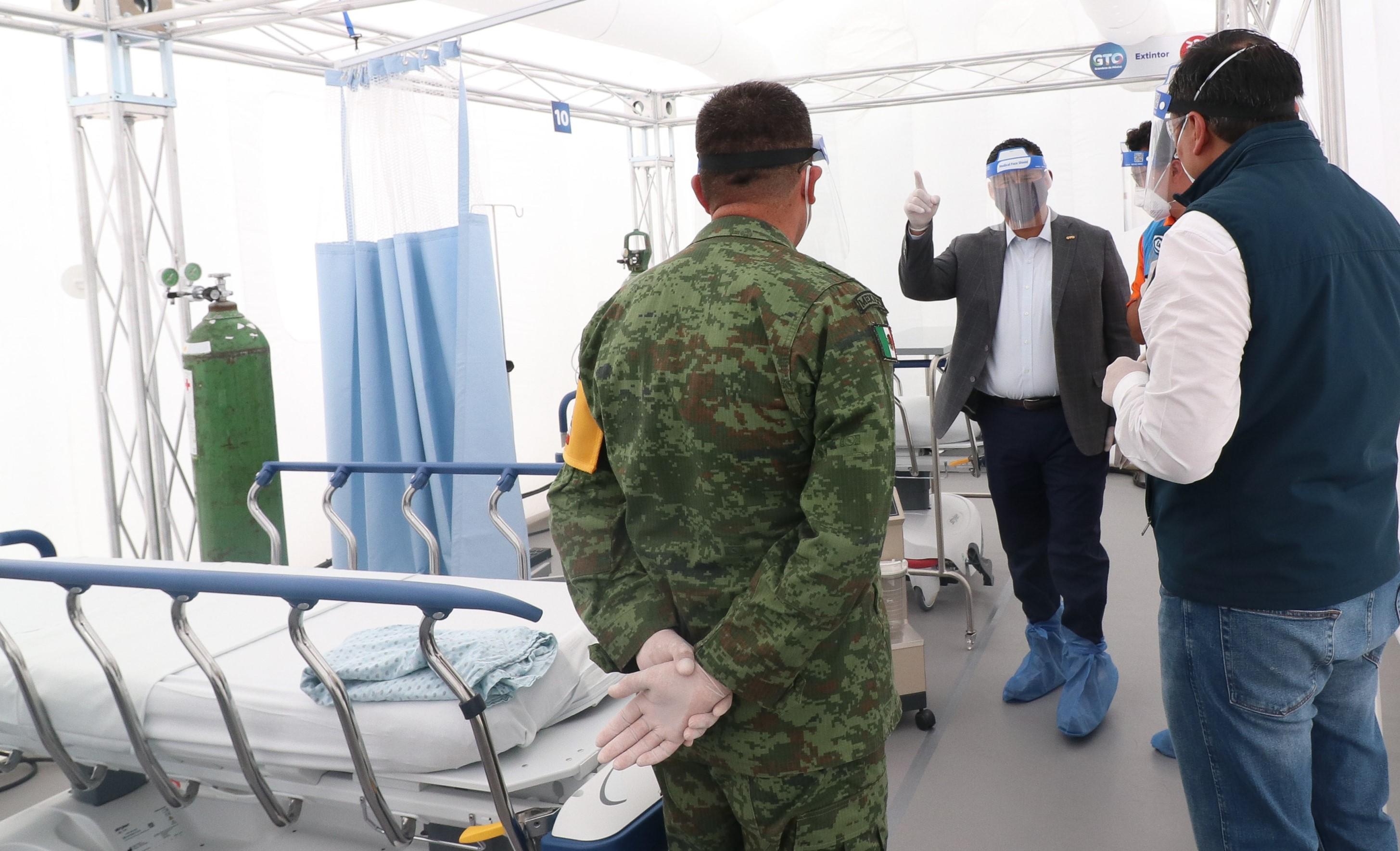 Inicia operaciones el nuevo Hospital Estatal Móvil COVID-19 1