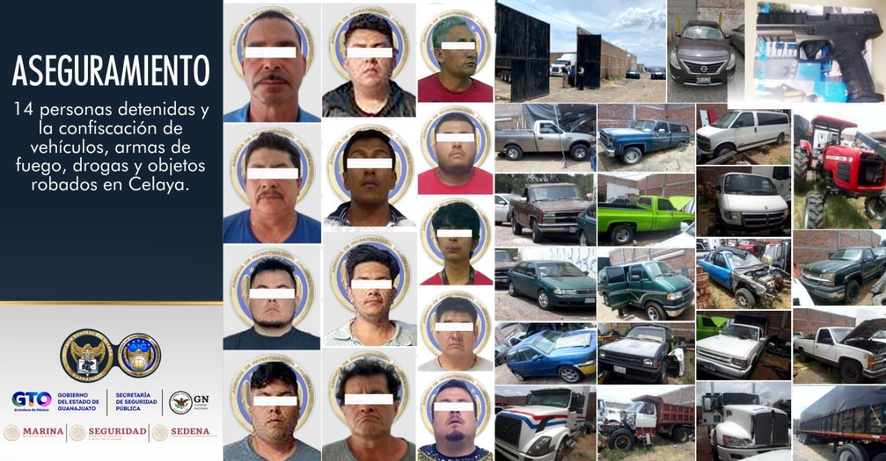 Cae líder de banda asalta-transporte y 13 cómplices en Celaya 3