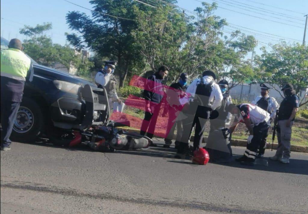 Patrulla de Seguridad Pública atropella a motociclista. 7
