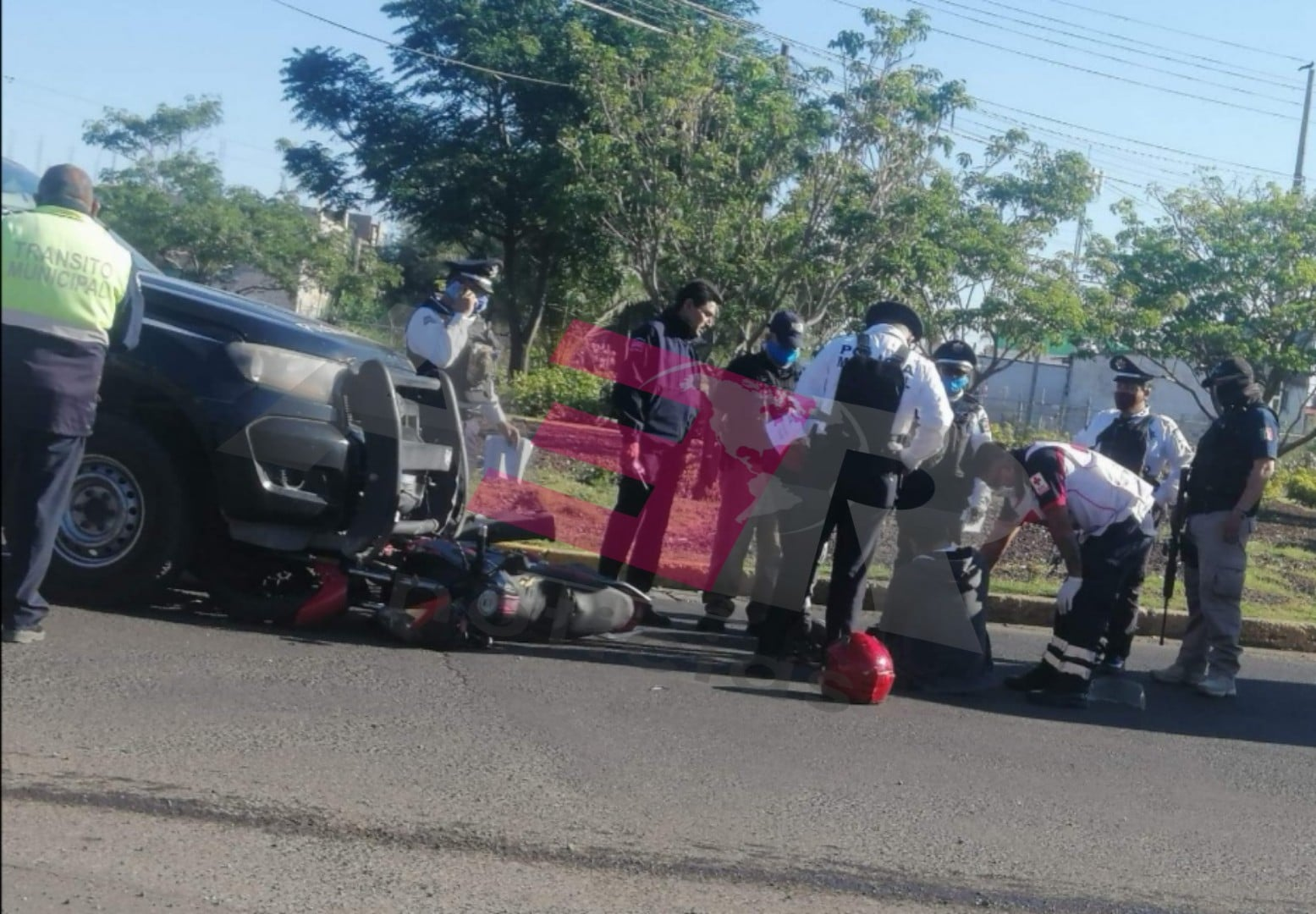 Patrulla de Seguridad Pública atropella a motociclista. 2