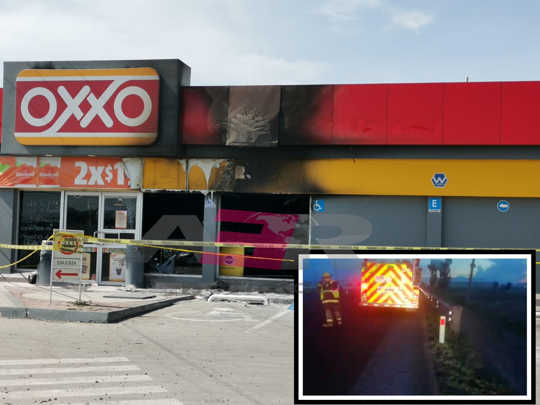 Incendian Oxxo en el Libramiento Norte en Irapuato 1