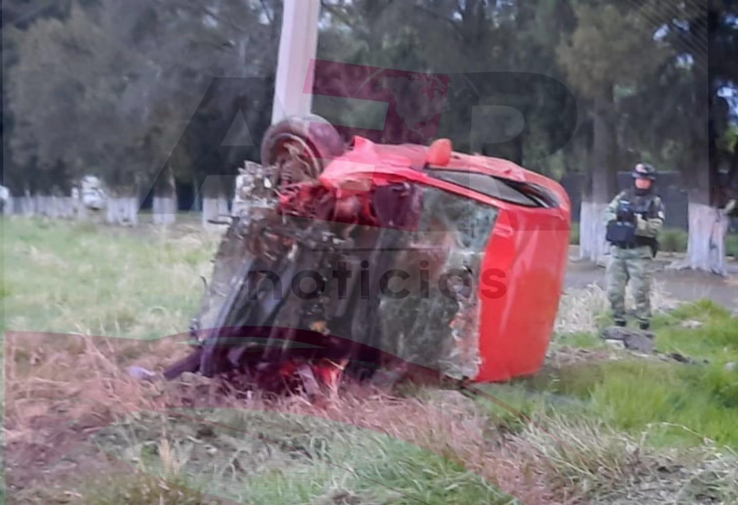Muere hombre tras volcar en el Libramiento Norte 3