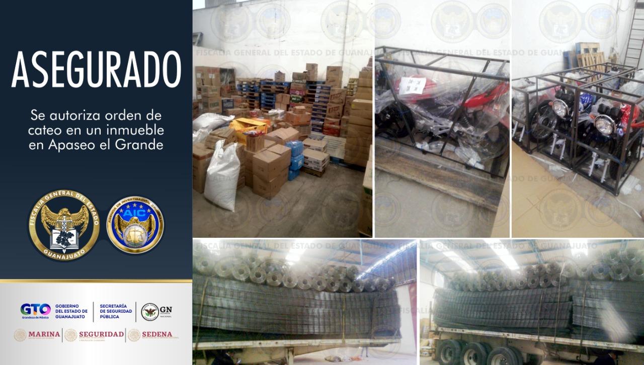 En cateo, aseguran toneladas de acero y motocicletas en una bodega en Apaseo el Grande. 4