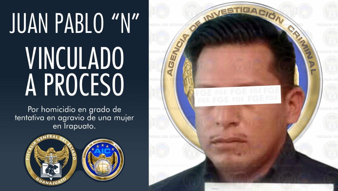 Por tentativa de homicidio de una mujer en Irapuato, hombre es vinculado a proceso. 2