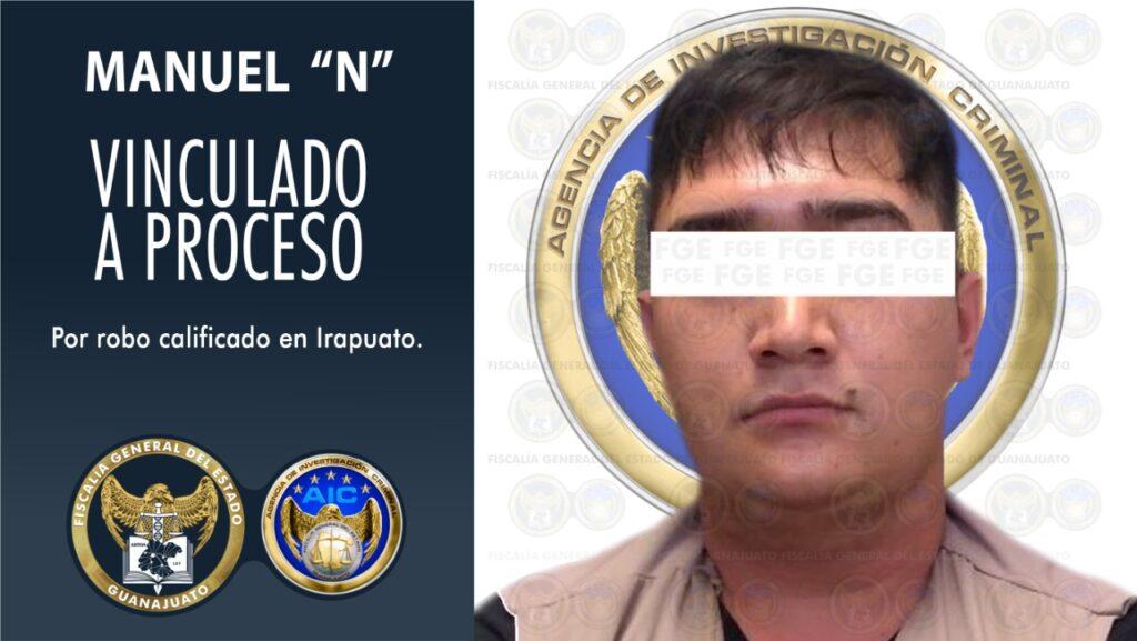 Detienen a imputado por robo con violencia de una camioneta en Irapuato. 7
