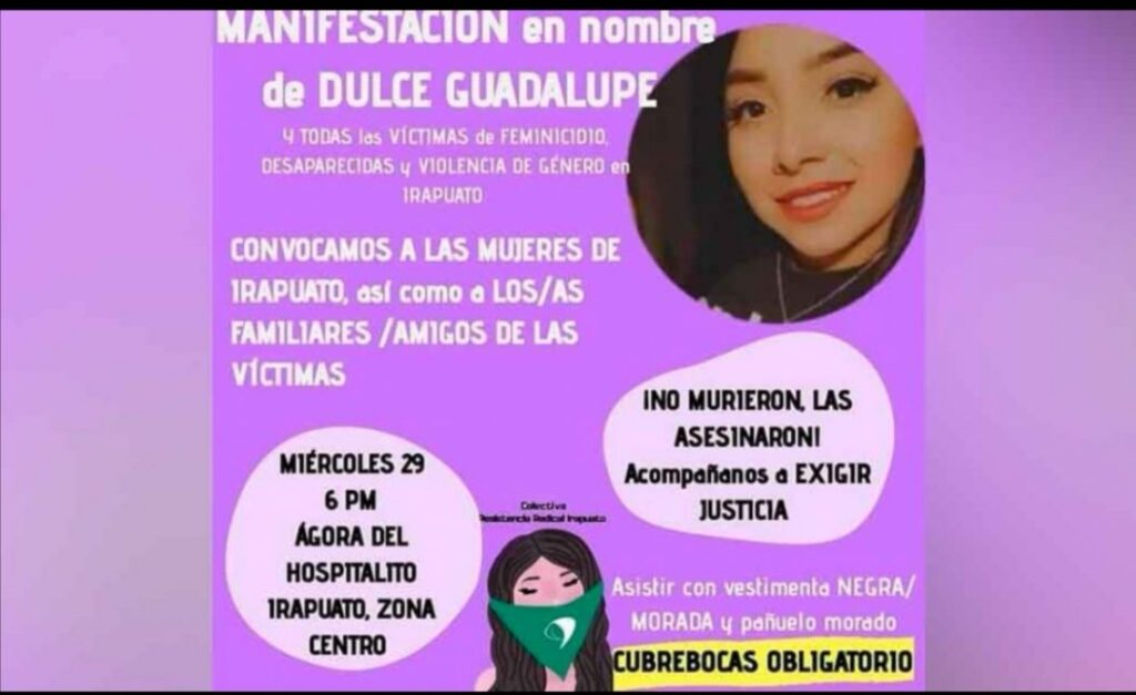 Convocan a marcha para exigir justicia para Dulce Guadalupe. 7