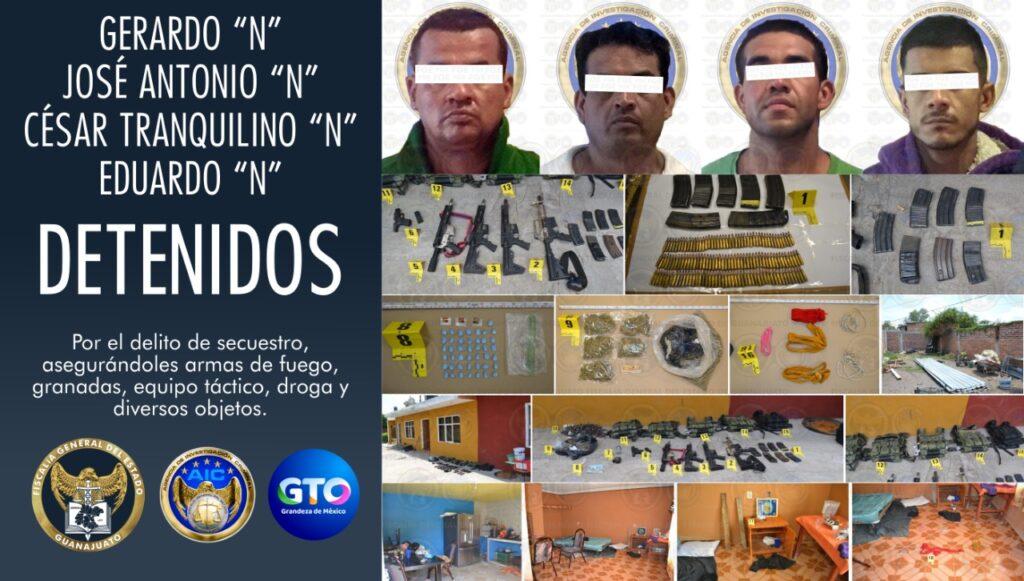 Un arsenal, drogas, explosivos y la desarticulación de peligroso grupo criminal son resultados de trabajo coordinado de la FGE y SSPE. 2