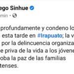 CONDENA EL GOBERNADOR ATAQUE EN ANEXO DE IRAPUATO