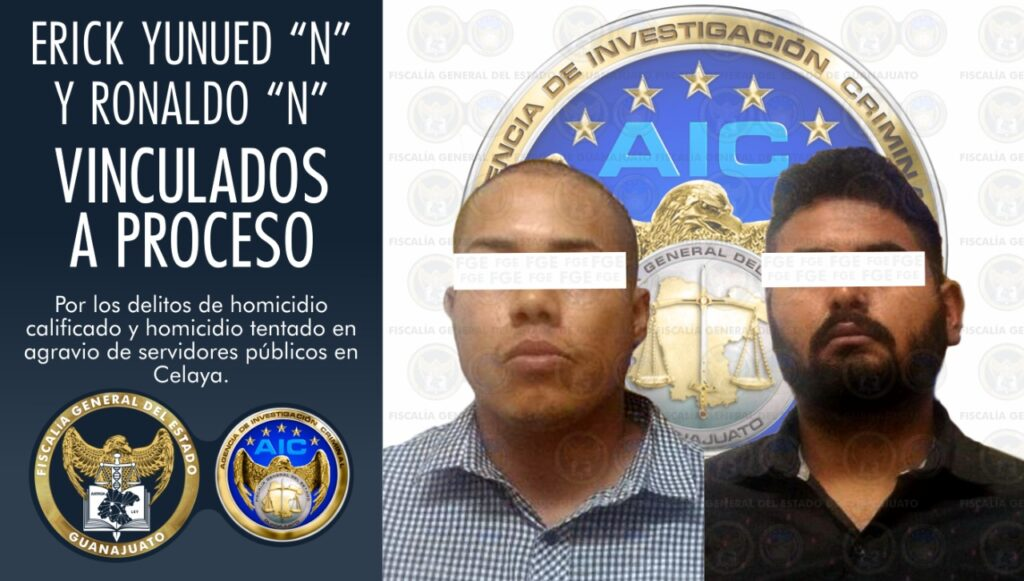 Vinculan a proceso a 2 detenidos por homicidio y la agresión contra Agentes de AIC tras persecución en Celaya. 2
