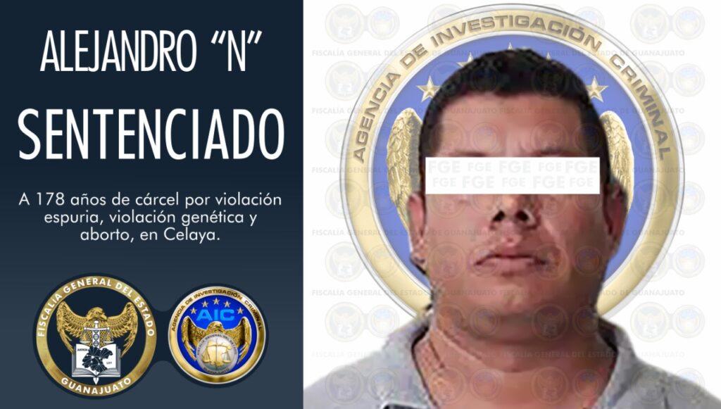 """Sentencia de 178 años de prisión para Alejandro """"N"""", culpable por violación y aborto en agravio de dos menores. 2"""
