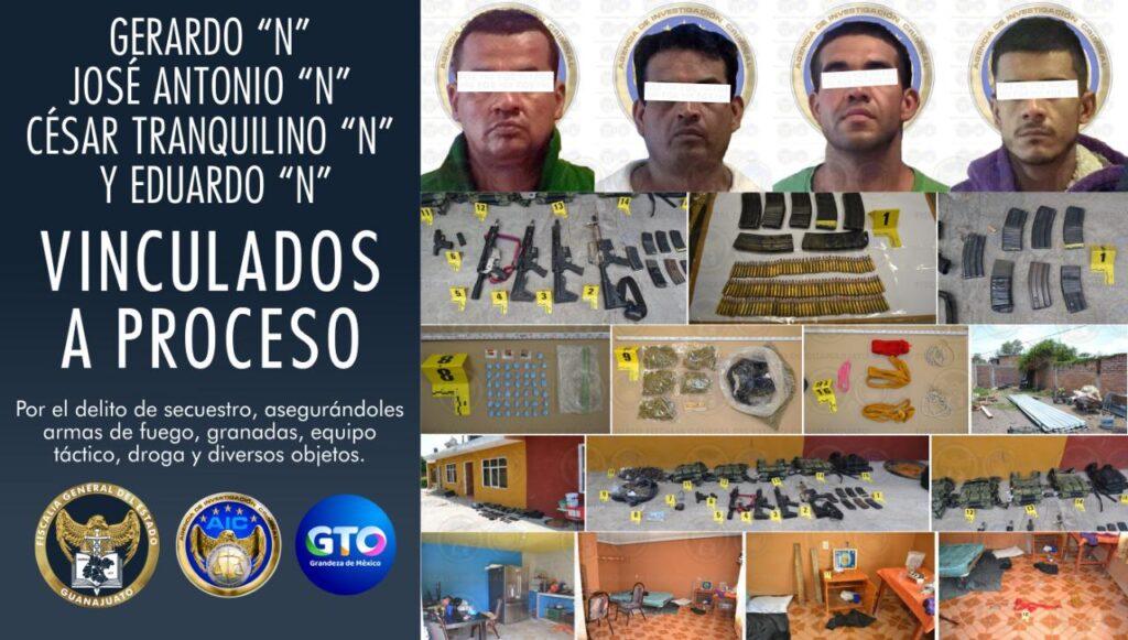 Rescatan a cuatro víctimas de secuestro y detienen a sus captores en Salamanca, quienes han sido vinculados a proceso penal. 7