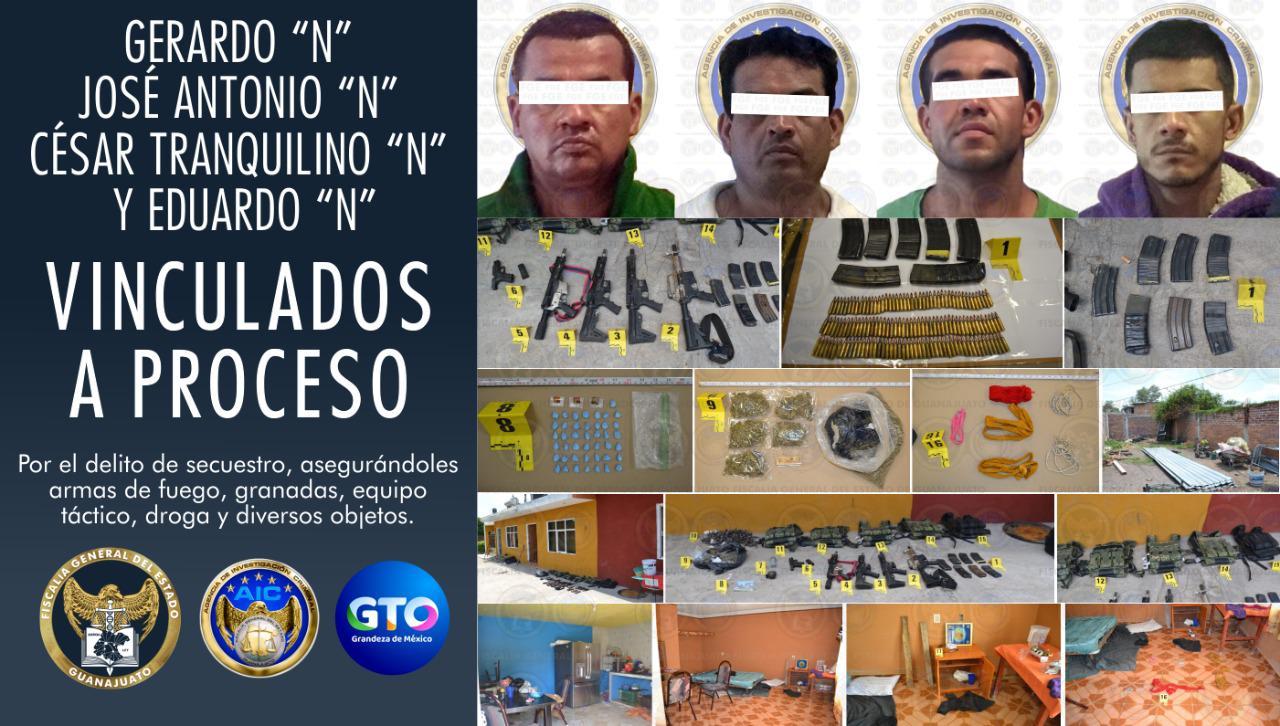 Rescatan a cuatro víctimas de secuestro y detienen a sus captores en Salamanca, quienes han sido vinculados a proceso penal. 4