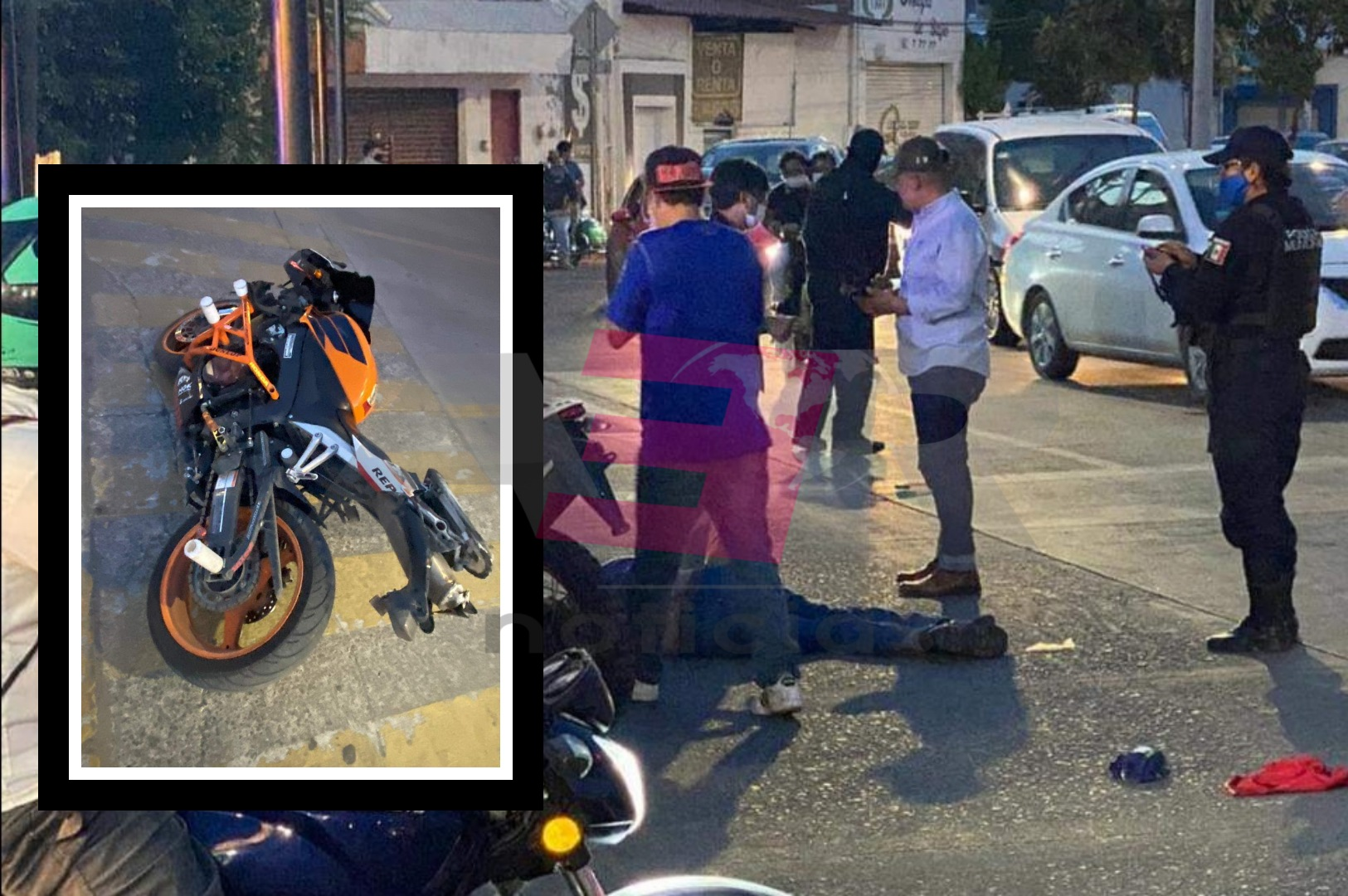 Se accidenta en moto de pista en boulevard Los Reyes y Avenida San Juan 4