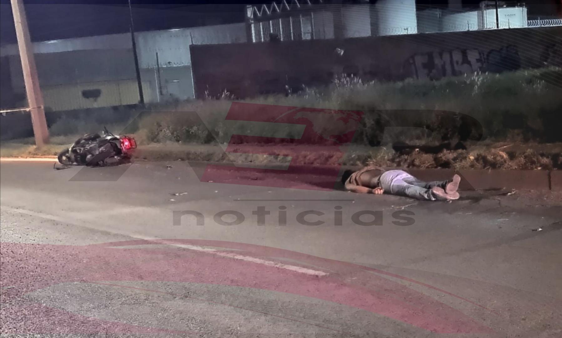 Fallece motociclista al derrapar en Paseo Irapuato 1