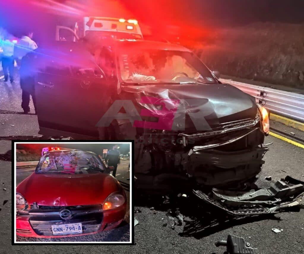 Un lesionado y daños materiales en choque en el Cuarto Cinturón Vial 8