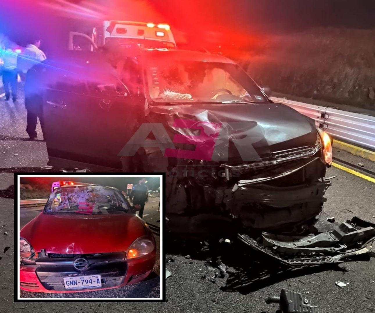 Un lesionado y daños materiales en choque en el Cuarto Cinturón Vial 1